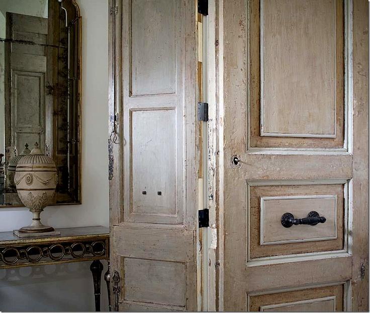 antique double doors Lynnstone estate in Jackson Mississippi. Interior Designer Annelle Primos of Jackson. Architect Kevin Harris of Baton Rouge. image via ... & 192 best Interior Doors images on Pinterest | Interior doors ... Pezcame.Com