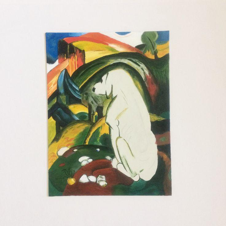 Репродукция картины Белая собака Франц Марк ручная работа. Доставка по России и СНГ