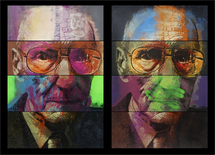 Williams Burroughs  portfolio of 15 original on paper, size 70x100, soon