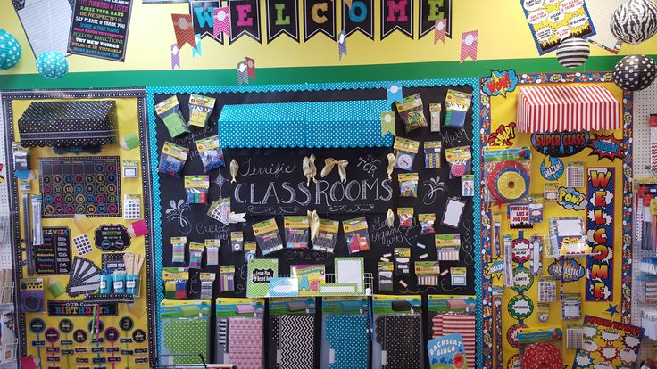 3 awesome awning displays showing back to school decoration essentials. From Franklin Parent Teacher Store in Franklin, TN