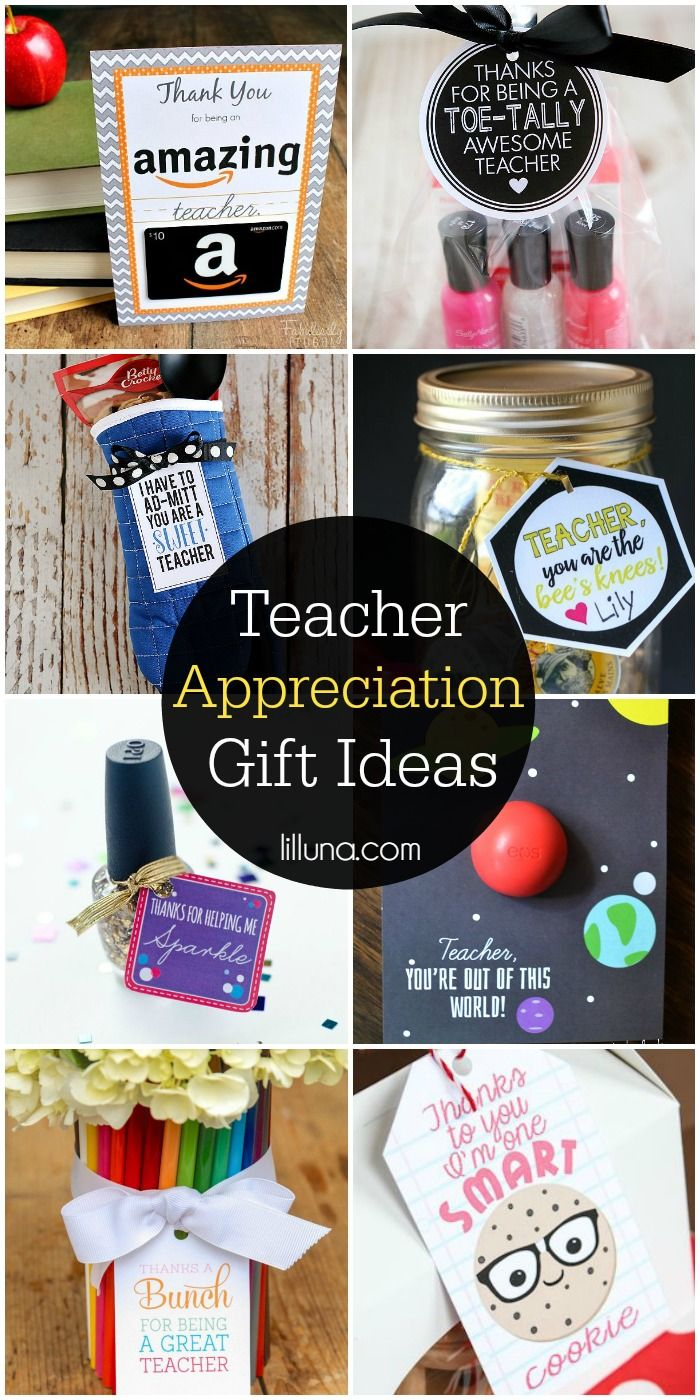 A Roundup Of Teacher Reciation Gift Ideas For The End School Year