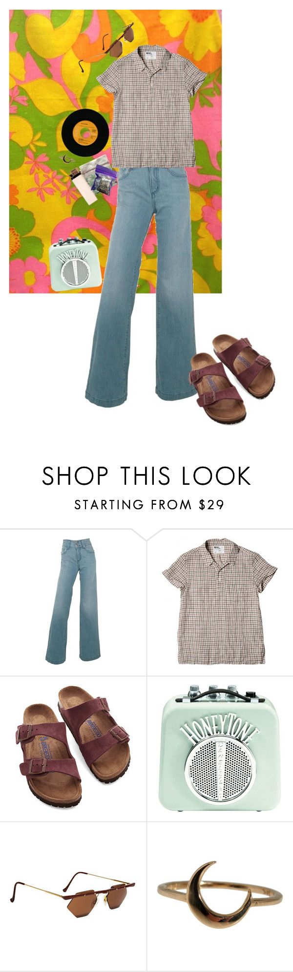 """70's BURN OUT"" by magickofthelema ❤ liked on Polyvore featuring Del Forte, Birkenstock, Lulu Frost, INC International Concepts, vintage, women's clothing, women's fashion, women, female and woman"