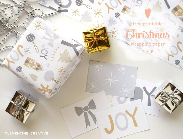 Download these FREE printable Christmas wrapping paper and tags! If you are a scrapbooker, this paper will be great for that too.