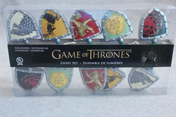 Game of Thrones HBO Indoor & Outdoor Light Set Stark Targaryn Tyrell Lannister  | eBay