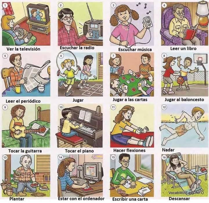 Картинки с хобби на англ, марта