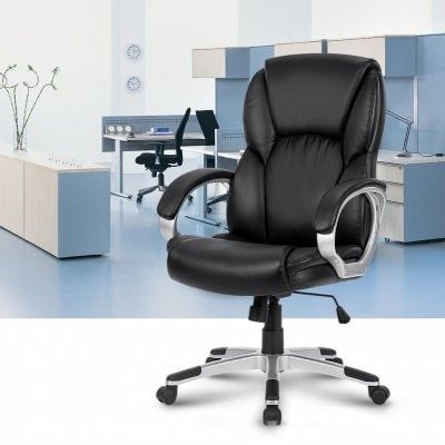 Just US$419.02 + , buy LANGRIA Modern Ergonomic Mid-Back Leather Office Chair online shopping at GearBest.com.