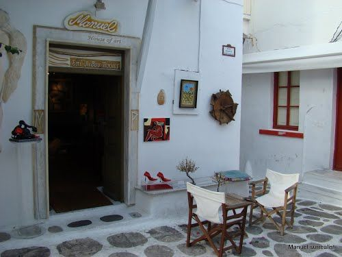 """Panoramio - Photos by Manuel """"House of Art"""" Mykonos  © A Touch of Art (Manuel R. surrealist)"""