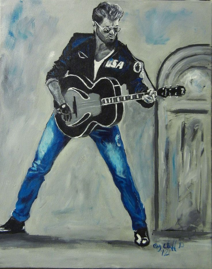 George Michael my painting by cliford417 - 25-12-2016 RIP
