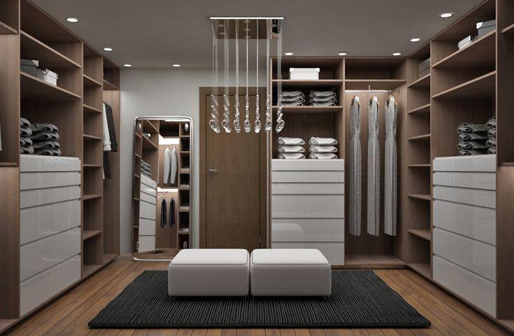 Recamara y Vestidor Moderno : Vestidores modernos de Diseñadora de Interiores Citlali Villarreal: