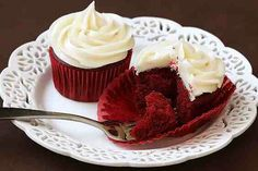 Red velet cupcakes from scratch and from a box....