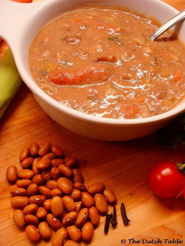 The Dutch Table: Bruine Bonensoep (Dutch Brown Bean Soup)