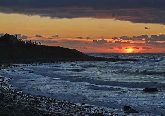A brilliant sunset at Sandford, Nova Scotia