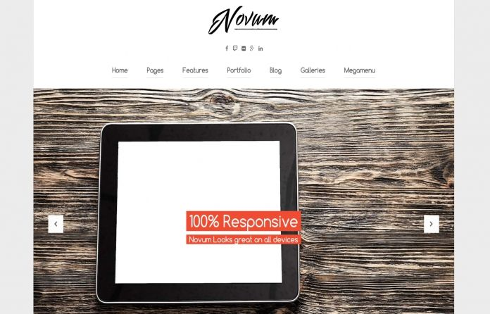 Novum - fresh, #modern & #responsive #WordPress #theme, made for any kind of website.