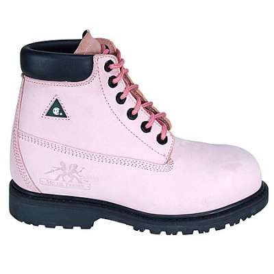 "Moxie Boot: Lightweight Composite Toe Betsy Xtreme Womens 6"" Original Pink Work Boot 60121 - Women's Steel Toe Work Boots - Women's Steel Toe Boots - Footwear"
