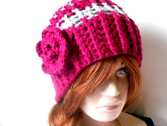 Women's Knit Hats, Hand Knitted Hats, Winter Knit Hats, Knitted Women's Hats, Crochet Hats, Handmade Hats, Women's Knit Beret, Wine Color