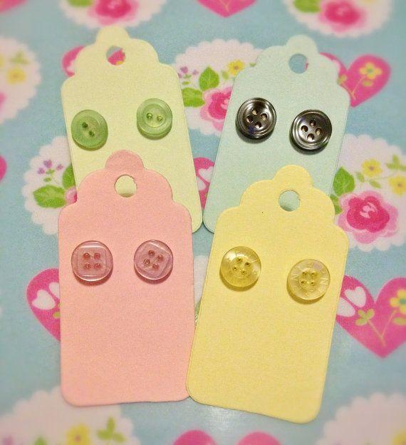 Cute as a Button's Emporium Button Earrings by CuteasaButton76