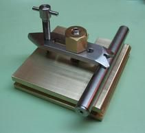 "Small drill press ""Fingerplate"" for work on a Cameron drill press used in watch and clock making"