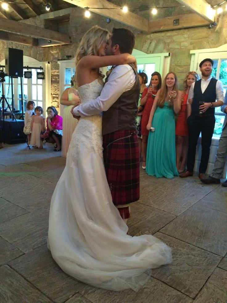 First dance as Mr and Mrs #wallacewedding #firstdance #growoldwithme #tomodell #wedderburnbarns