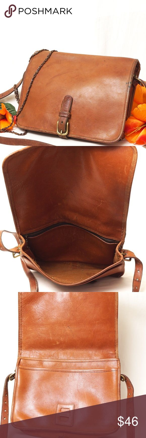 """COACH VINTAGE BROWN LEATHER CROSSBODY BAG Beautiful style. Preloved in used vintage condition as pictured. This is one of the most beautiful thing your vintage collection will have. Excellent bag for daily use. Size 10""""x8""""x3,5"""". Pet smoke free home.  AUTHENTIC❣️LEATHER ❣️FAST SHIPPING!  ⏳My items sell fast. Get them before gone.⌛️Please see my other listings. Bundle & save.. I have over 200 different  listings with more to come.🎯 Coach Bags Crossbody Bags"""