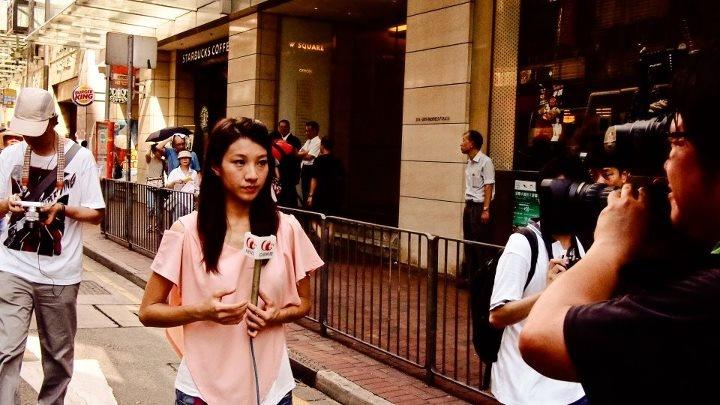 aTV News, 呢個記者係乜水? — at Hennessy Road, Wan Chai