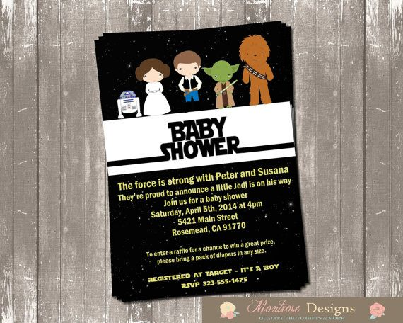 Marvelous Star Wars Baby Shower Invitation DIGITAL FILE
