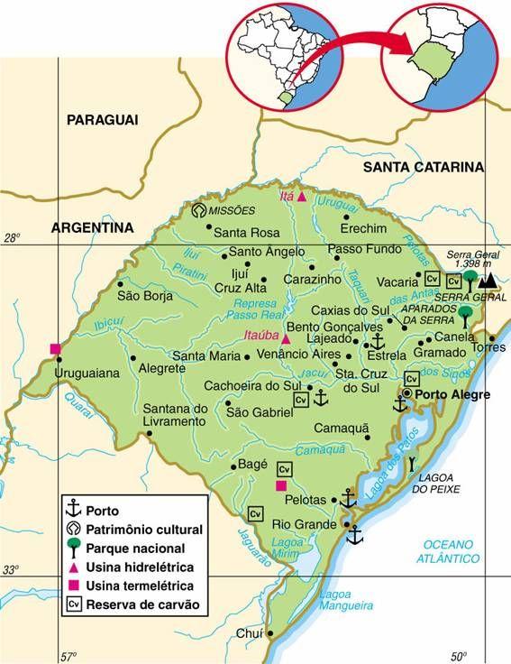 Rio Grande Mapa Fisico.Mapa Do Rio Grande Do Sul Em 2019 Rio Grande Sul Do