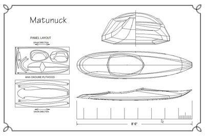 Matunuck Surf Kayak Plans | Guillemot Kayaks - Small Wooden Boat Designs