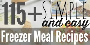Simple and easy Freezer Meal Recipes that REAL people make!