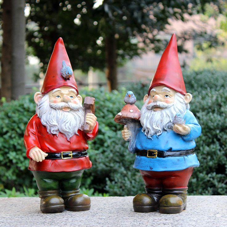 handmade vintage free resin garden figurines gnomes for sale poly resin christmas santa claus garden decorations