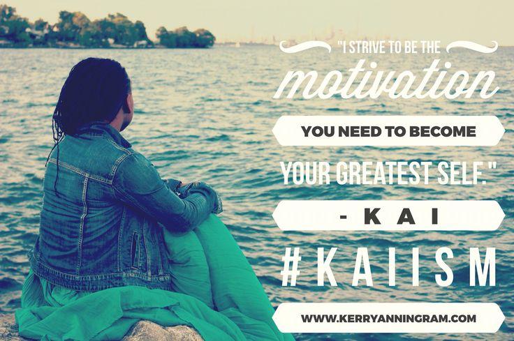 Motivational words from Kerry-Ann ingram