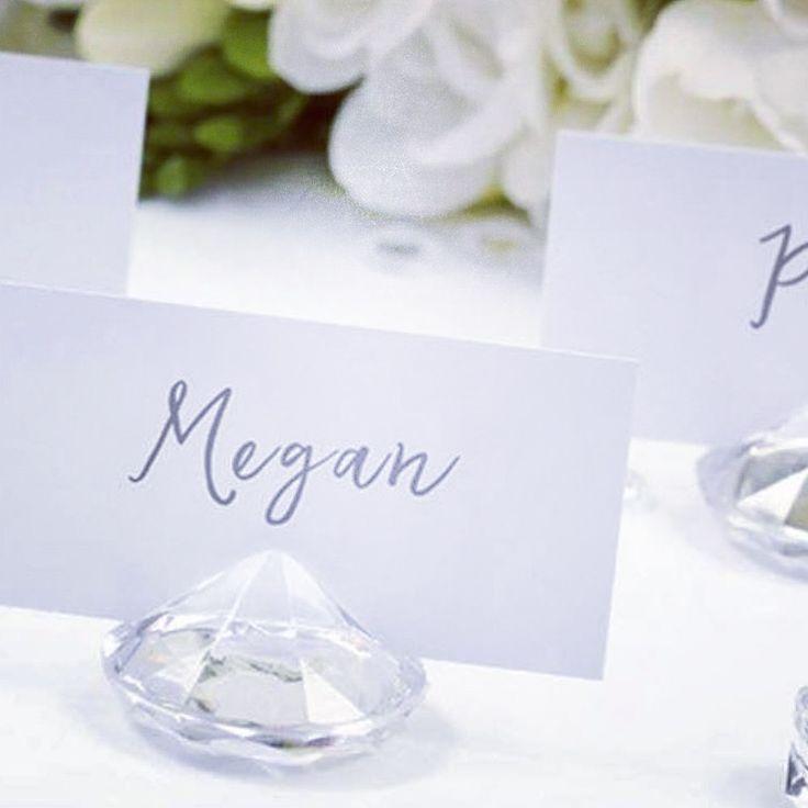 Segnaposto diamante matrimonio
