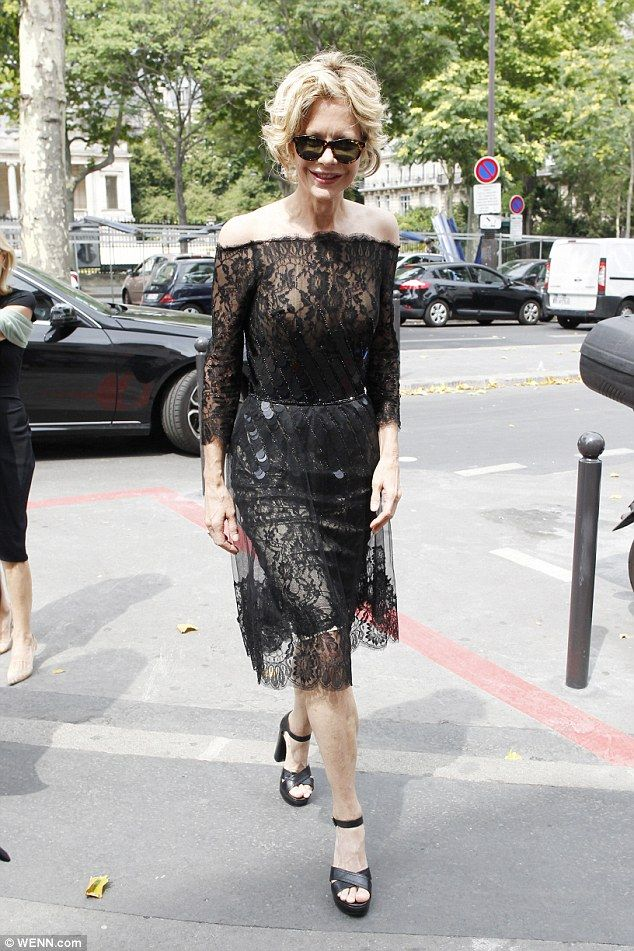 Rare public appearance: The 53-year-old's time in the French capital marks her return to t...