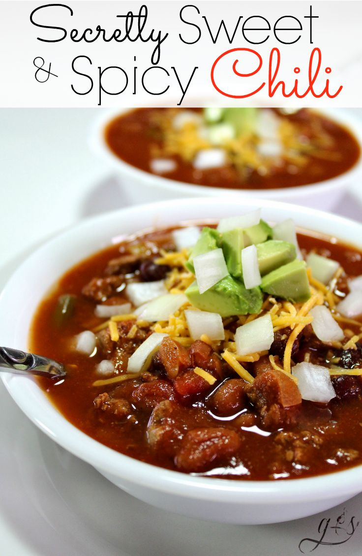 My easy Sweet and Spicy Chili recipe has definitely evolved over the years. I quickly grew tired of the plain chili flavor, so I started experimenting with spices like cinnamon, nutmeg, and allspice as well as a splash of honey or maple syrup to the pot. This is what has made this chili the BEST recipe EVER! This quick and healthy homemade chili will quickly become a favorite meal in your home!