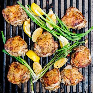 Zaatar and Lemon Grilled Chicken | MyRecipes.com