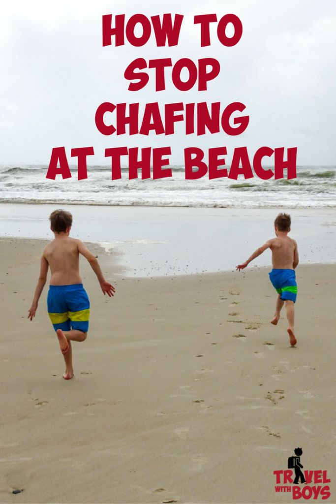 How to prevent chafing at the beach. That red raw rash boys get when you mix lots of sand, salt water and friction is no longer. Travel with Boys