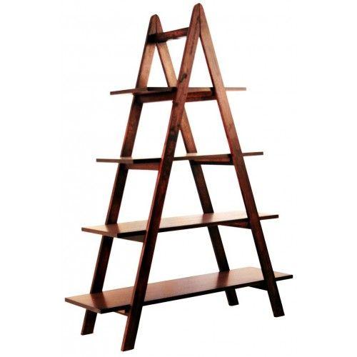 estanterias de madera tipo escalera medidas - Buscar con Google