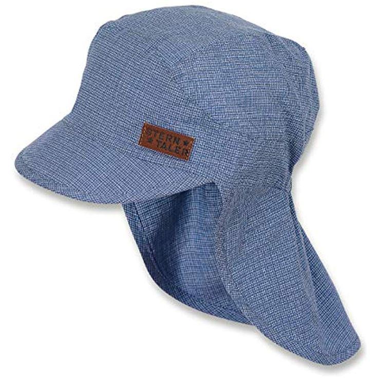 Sterntaler Schirmmütze für Jungen mit Nackenschutz Eisblau #jungennamen #junge…