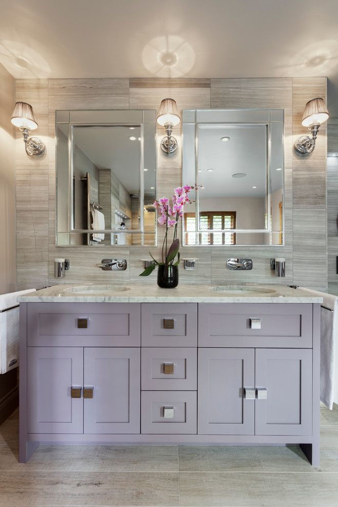 Purple Bathrooms, Purple Bathroom Vanity