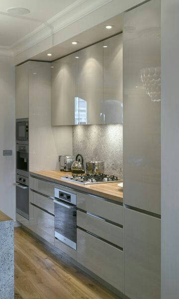 Textured look splashback