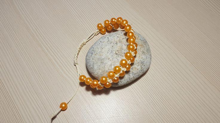 Braslet a female Orange bracelet of Ornament on a hand the Gift to the woman Braslet from beads by ManybraceletsDesign on Etsy