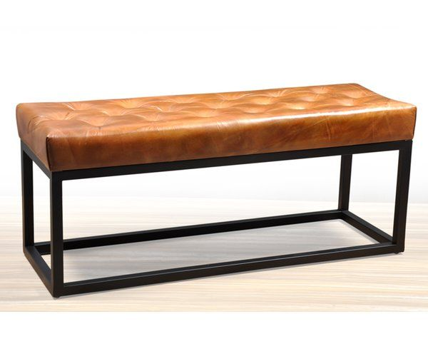 You Ll Love The Adelinda Metal And Leather Bench At Allmodern With Great Deals On Modern Living Room Furniture P All Modern Furniture Leather Bench Furniture