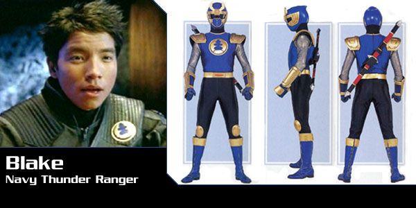 Blake Bradley (Navy Thunder Ranger) - Power Rangers Ninja Storm - Power Rangers Central