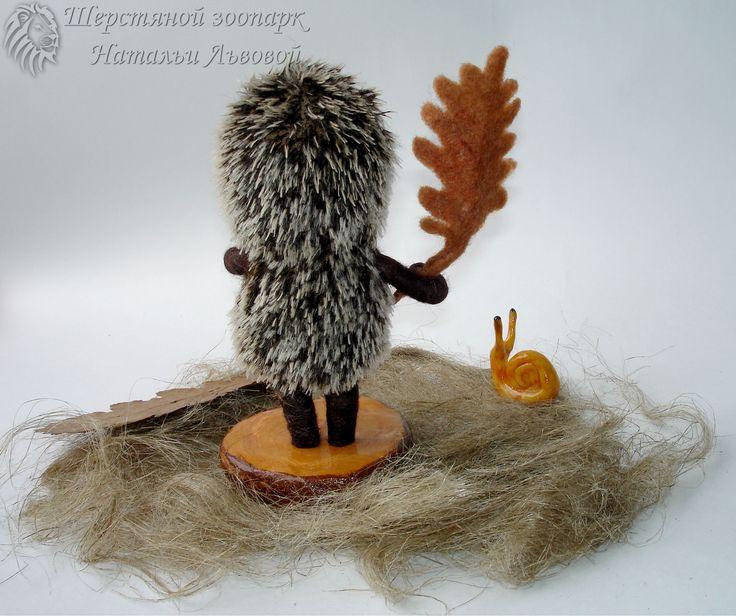 Ёжик в тумане – миниатюра, интерьерная композиция / ёжик валяный - ручная работа