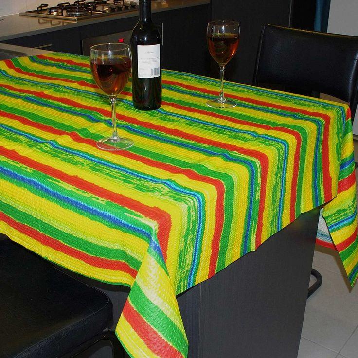 150cm Round Seersucker Carnival Tablecloth 100% Cotton (145cm)