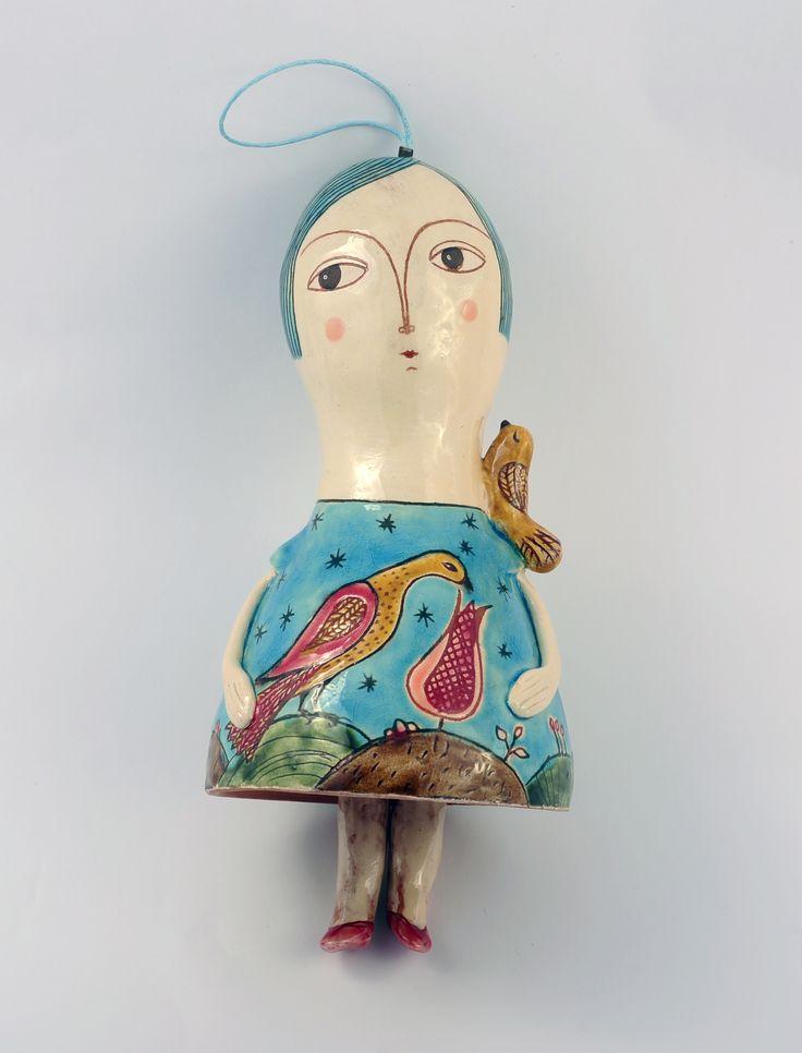 Clopoțel păpușă din ceramică – 250 lei | EliteArtGallery - galerie de artă