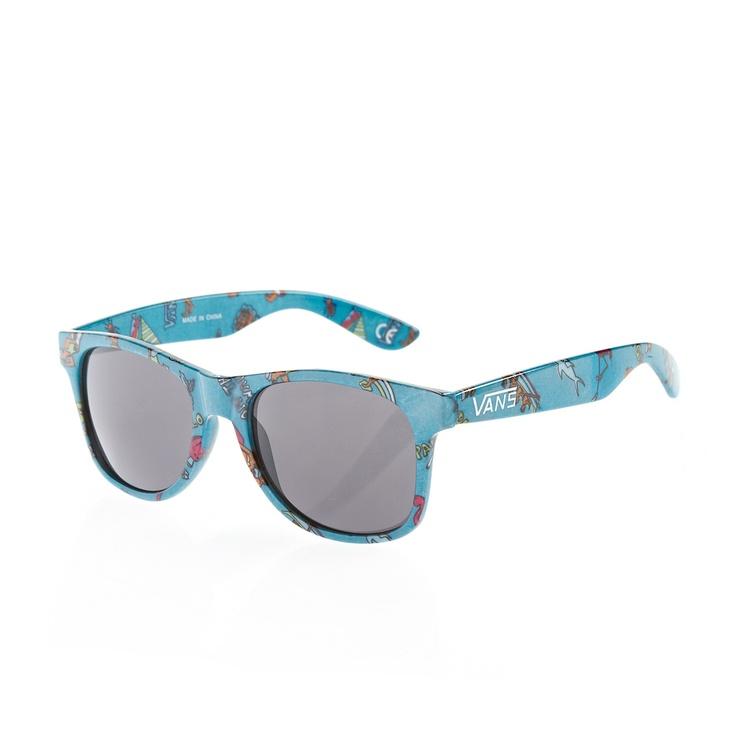 Vans Spicoli 4 Sunglasses - Milky Blue Aloha Camo | Free UK Delivery