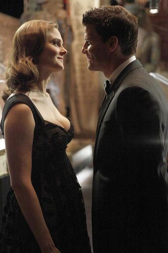 Booth (David Boreanaz) and Brennan (Emily Deschanel) #Bones