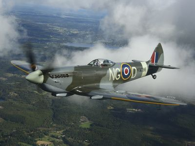 Supermarine Spitfire Mk.XVI Fighter Warbird of the Royal Air Force
