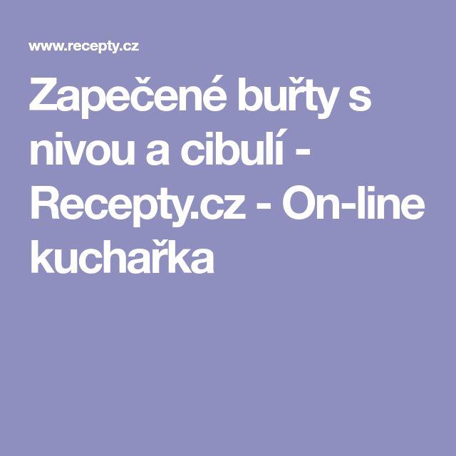 Zapečené buřty s nivou a cibulí - Recepty.cz - On-line kuchařka