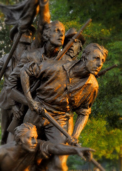 There are over 600 monuments spread across the Gettysburg battlefield (not including markers in the cemetary).  In 3 days of fighting, America lost 23,000 men.  Another 30,000 wounded.  The North Carolina Monument at Gettysburg ~ photo by Michael Rucci